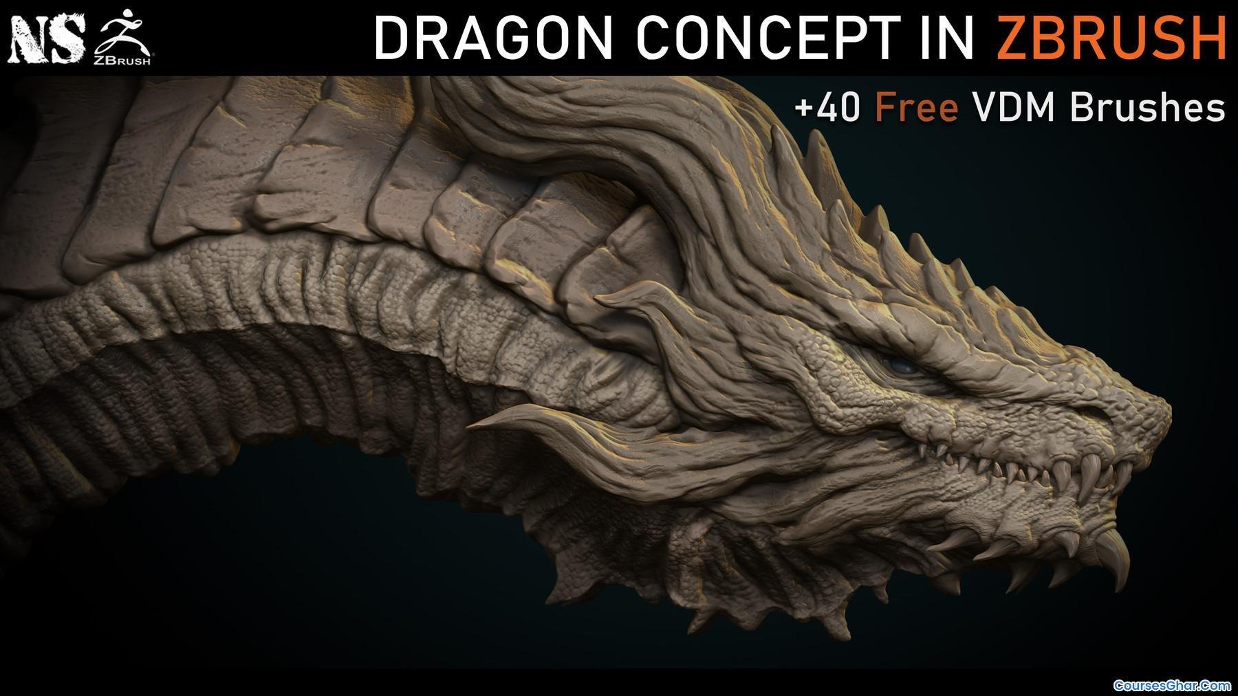 Artstation – Dragon Concept in Zbrush
