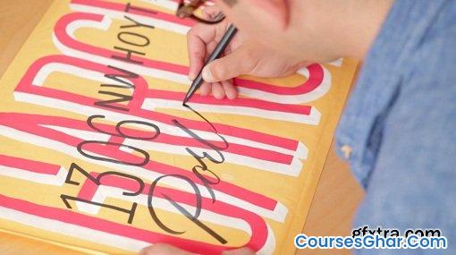 SkillShare – A Comprehensive Guide to Hand Lettering: Creating Graphic and Script Styles