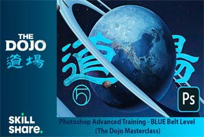 Skillshare – Photoshop Advanced Training – BLUE Belt Level (The Dojo Masterclass)